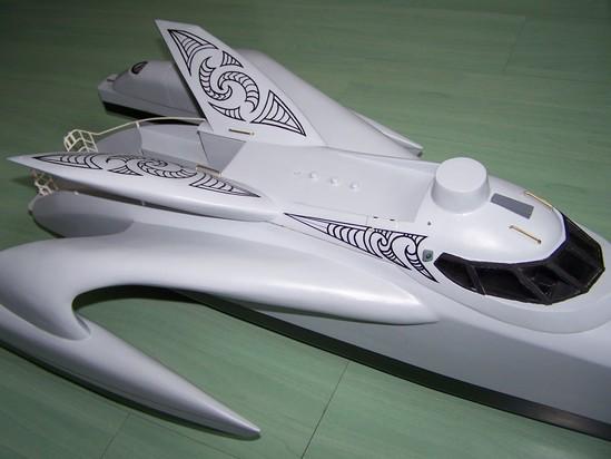 Maquette du Trimaran Earthrace